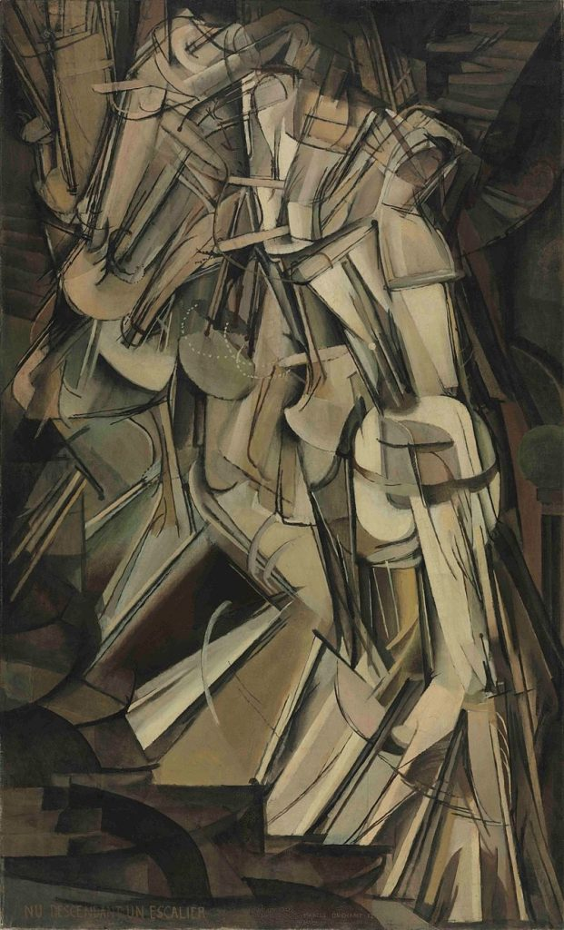Duchamp's Nude Descending Staircase caused great controversy. Photo Courtesy of Wikimedia Commons