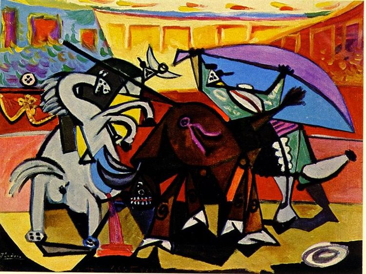 Picasso's A Bullfight. Photo courtesy of Wikiart.org.