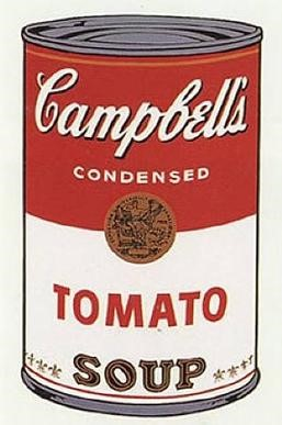 Warhol's Campbell's Soup (1968) is one of his most widely recognized. Photo courtesy of Wikimedia Commons