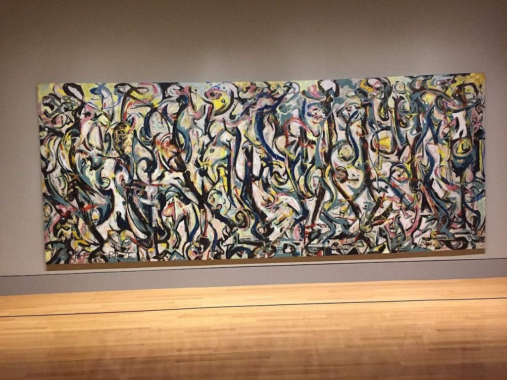 Jackson Pollock's Mural certainly conveys energy. Photo courtesy of Soulbust and Wikimedia Commons.
